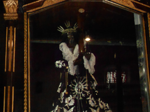 Panama, like most of Latin America, is a very religious country, and this is their 'Black Christ.'