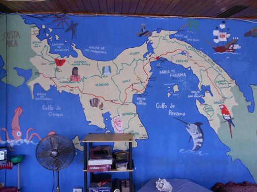 Just to give you a parting shot, a map of Panama.