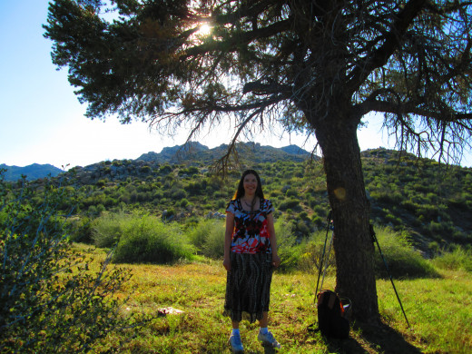 Photo of me on a spring day under a tree up in the San Bernardino Mountains.