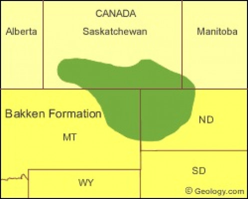 The Bakken straddles Saskatchewan, Manitoba, Montana, and North Dakota.