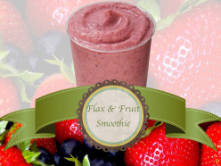 How to Make a Flax and Fruit Smoothie