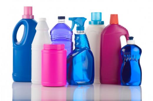 Several different plastics displayed to emphasize their commonplace abundance.
