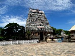 The South Gopuram (Tower) of the Nataraja temple, Chidambaram