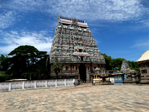 The South Gopuram (Tower) of the Nataraja temple, Chidambaram