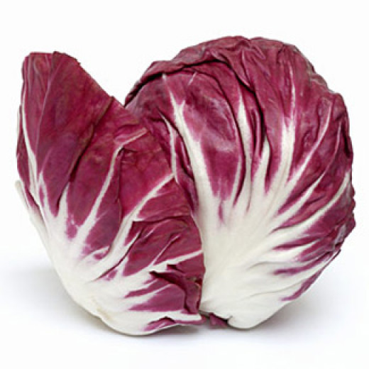 "For those of you that scratched your head at ""radicchio,"" here is a picture. It is a bitter vegetable that (I think) is best served cooked as that mellows that bitter flavor."