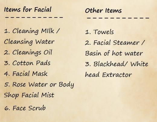 Doing a facial at home