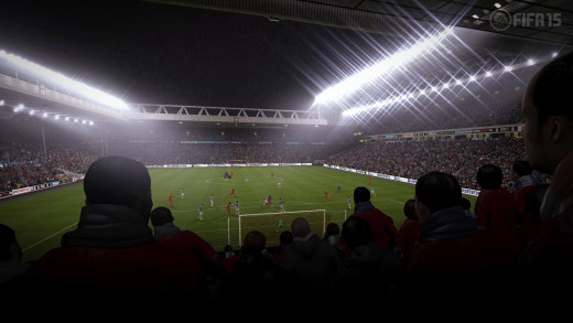 Anfield lights up for a night time fixture