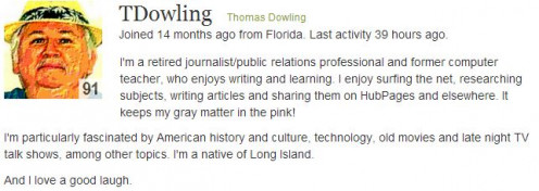 T. Dowling A Creative Author http://tdowling.hubpages.com/