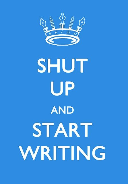 Don't stop writing.