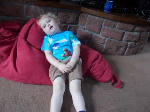 Aaah!   All to much for 3 yr old Jayden.