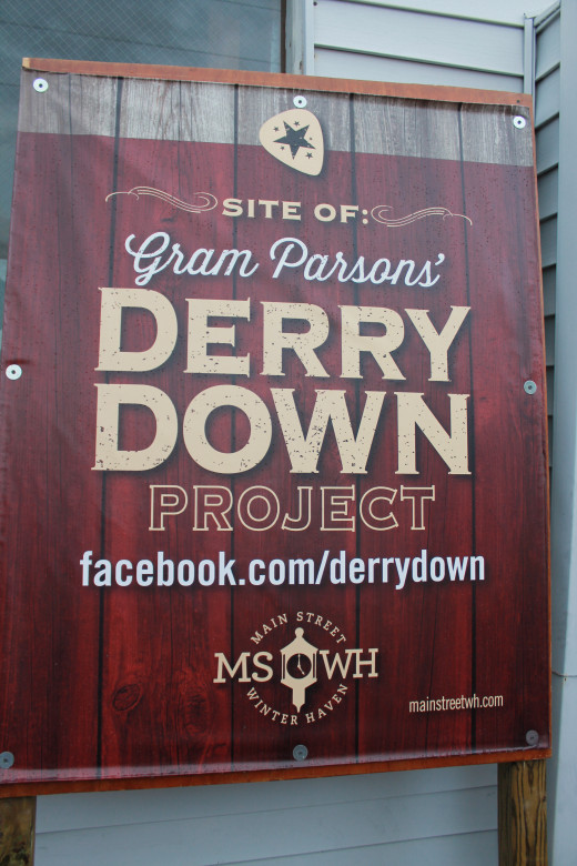 Sign outside Derry Down during the Cosmic Revival.