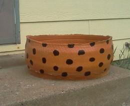 A tire planter I made