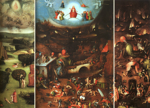 Back in the 1600s Hieronymus Bosch made this spectacular painting based on biblical prophecy