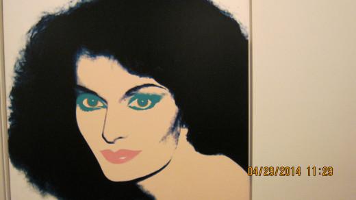 Painting of Diane von Furstenberg by Andy Warhol