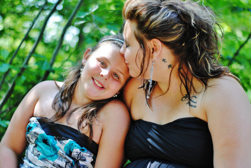 Yeah, moms and daughters can clash in emotion.  But in the end, we're two sides of the same coin.