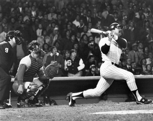 Reggie Jackson  was a great baseball player during his prime. He not only played great but he motivated and raised the level of play out of his teammates as well.