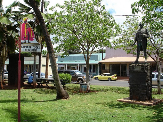 Captain Cook Monument in the town of Waimea