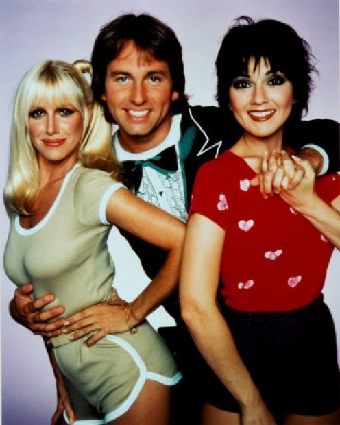 John Ritter and Joyce DeWitt were on the show from the beginning as Jack and Janet. The other roommate was changed a couple of times.