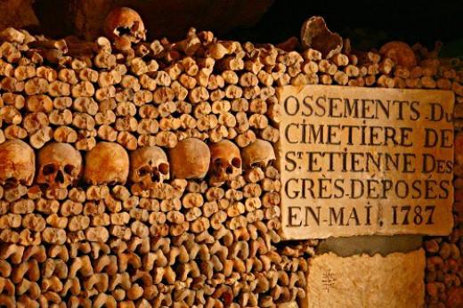 Catacombs of Paris.