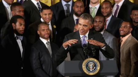 If you hear a little Noise…It's Barack and the Boys!