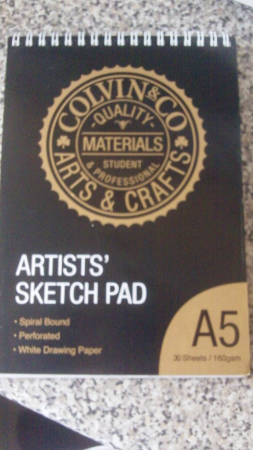 This is my Drawing Journal An A5 Sketchpad which is filled with all of my Journal Entries now all 60 sides of 30 sheets