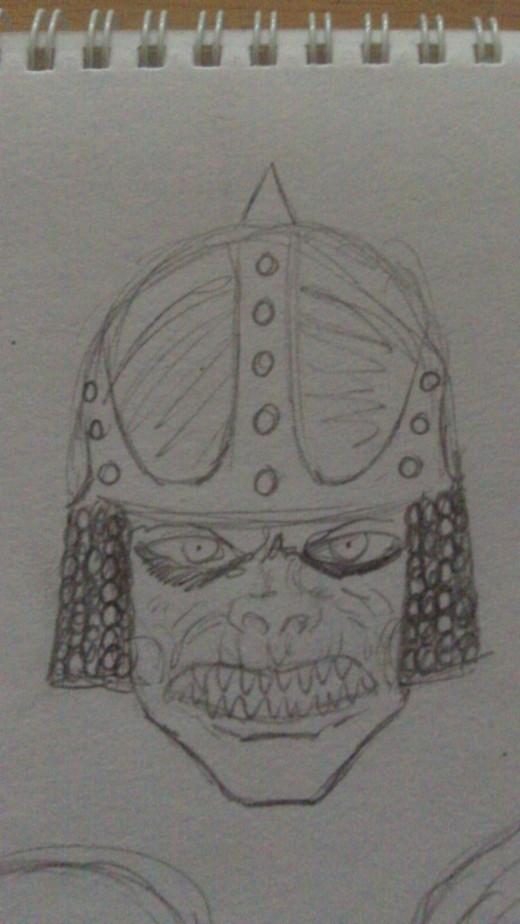 Orc pencil sketch 3