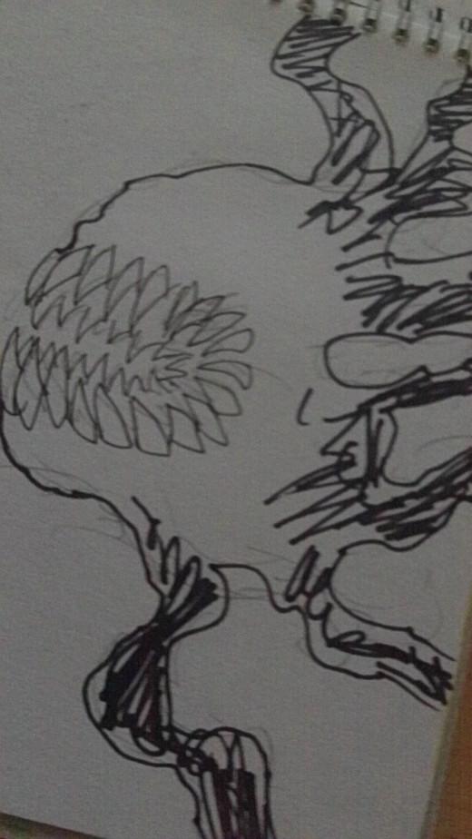 shadow creature sketch.