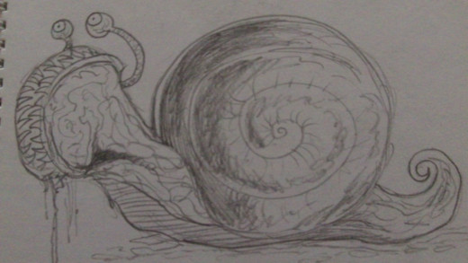 A mutant snail quick sketch.