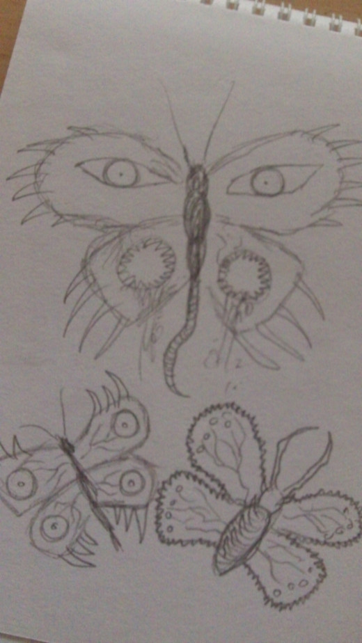 Drawings of Demon Butterfly ideas.