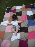 An Upcycled Quilt: How to Make a Quilt Using Shirts, Pants, and a Sheet