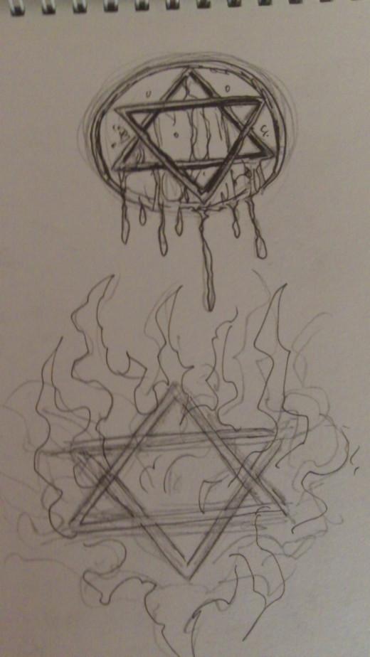 Two Pentagram sign ideas.