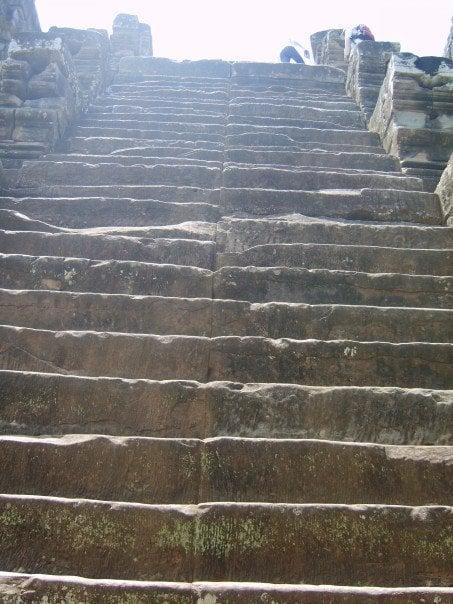 Steep steps at the ruins