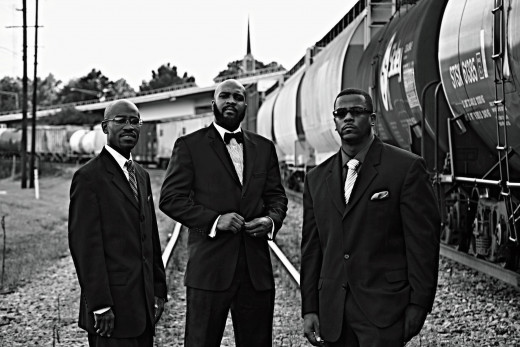"Pictured left to right are Reginald Johnson, Clarence  ""C-Dubb"" Williams and Fred Stallworth who started Divine Elements Entertainment in 2010."