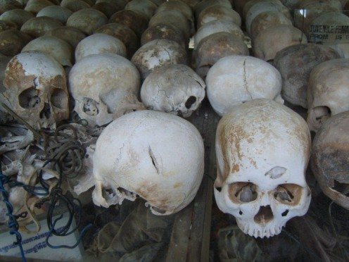 Skulls dug up at the fields