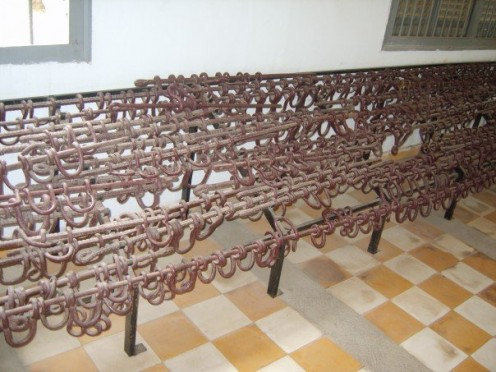 Ankle chains used on prisoners at S21 prison