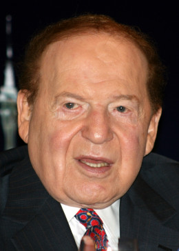 By User:Bectrigger (Cropped from File:Sheldon_Adelson_21_June_2010.jpg) [CC-BY-SA-3.0 (http://creativecommons.org/licenses/by-sa/3.0)], via Wikimedia Commons