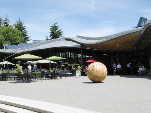 The Visitor Centre at the VanDusen Botanical Garden