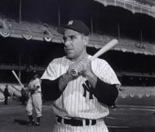 Yogi Berra of the New York Yankees is one of the best baseball players of all time. He was a fan favorite and beloved player.
