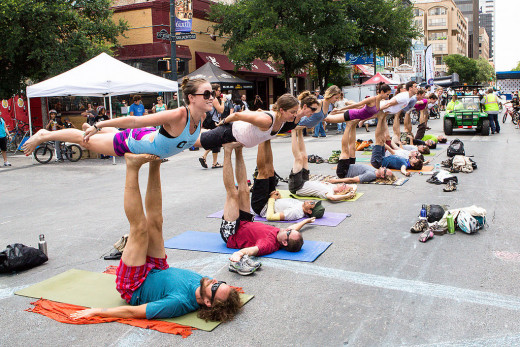 Yoga Flash Mob
