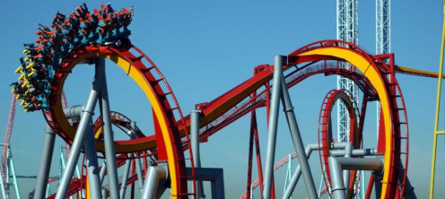 The Silver Bullet roller coaster at Knott's Berry Farm in California is Not for the feint of heart.