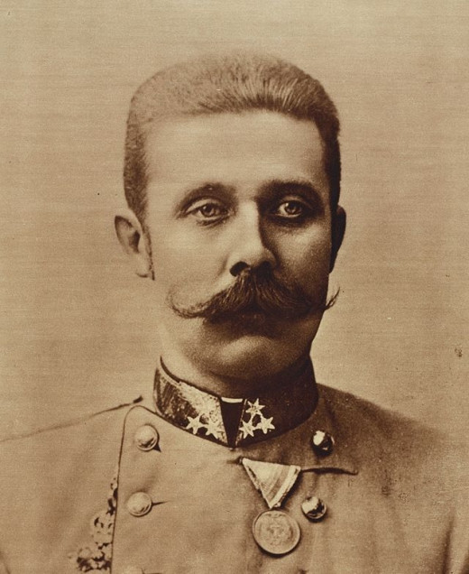 Archduke Franz Ferdinand who was assassinated by Gavirlo Princip in Sarajevo.