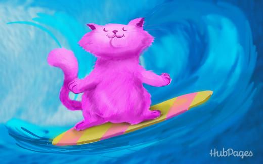 Pink Tsunami Kitten!