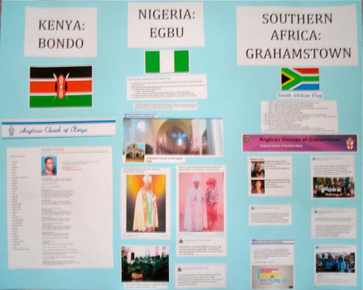 Dioceses in Kenya, Nigeria and South Africa