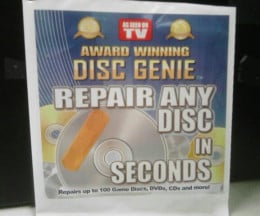 "The wrapper claims that the Disc Genie is ""Award Winning,"" so it's GOTTA be legit, right?."