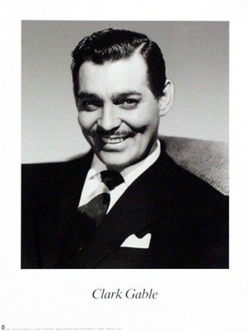 Clark Gable Art Print Poster By: Kobal Collection