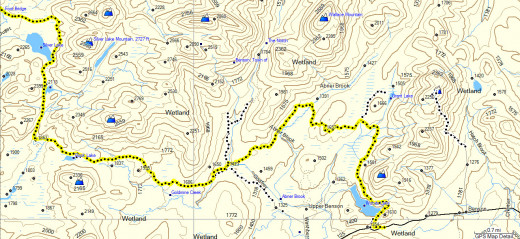Map of the NPT from Benson Road to Silver Lake