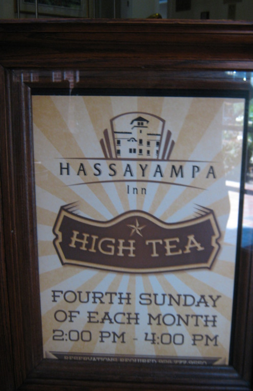 High Tea Is Served On The First Sunday Of Each Month 2:00 pm to 4:00pm