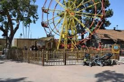 The Ferris Wheel is a central part of Knotts Berry Farm.
