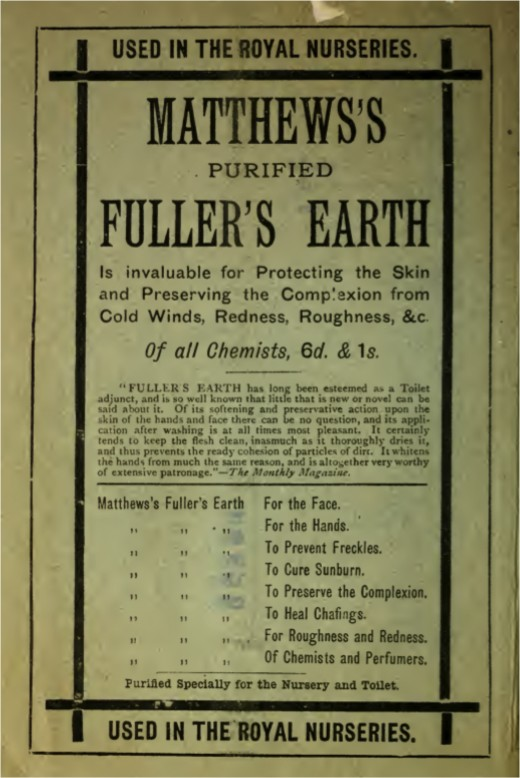 Really Old Advertisement of Fuller's Earth...  Dirt?