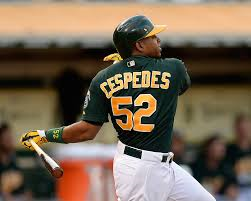 Yoenis Cespedes has the Athletics on top of the rankings this month.